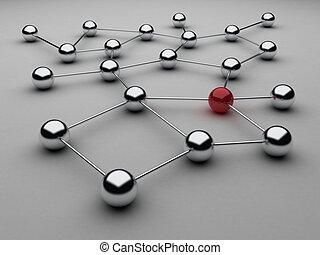 Spheres - Illustration of spheres from metal, as ...