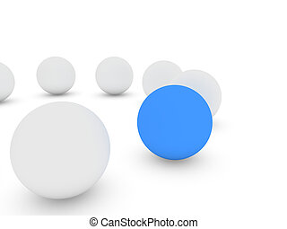 spheres isolated on white background