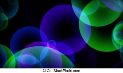 Spheres & Particles Purp-Green-Blue