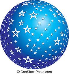 spheres star vector design.