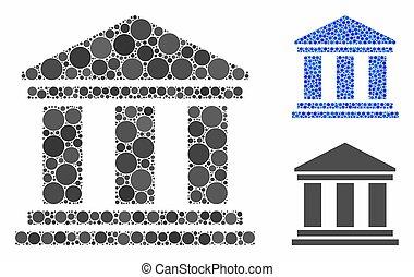 spheric, mosaico, predios, ícone, itens