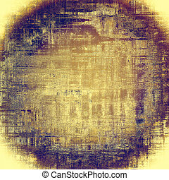 Spherical background with dirty grunge texture, vintage style elements and different color patterns: yellow (beige); brown; blue; purple (violet); pink