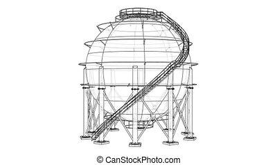 Spherical gas tank outline video - Spherical gas tank...