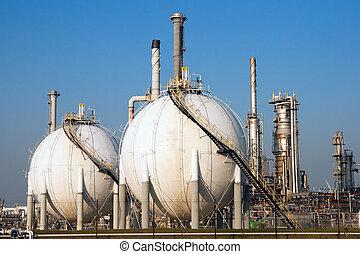 Spherical gas tank