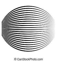 Spherical, globe circular distort effect pattern. Curved ...