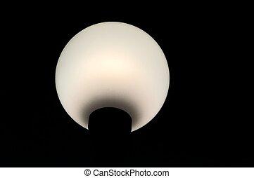 Spherical Lantern - Spherical white lantern on the black...