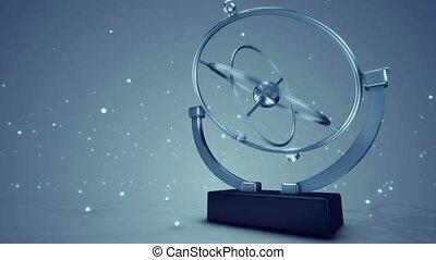 """Spherical Pendulum Swinging in Space"" - ""A volumetric 3d..."
