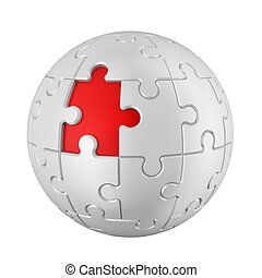 Spherical Puzzle Isolated