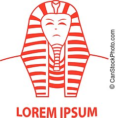 Sphinx and Egypt Pharaoh logo, vector design