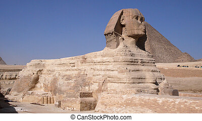 Sphinx and Pyramid. Egypt