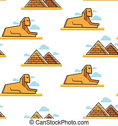 Sphinx and Pyramid Egyptian architecture and landmark...