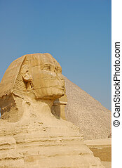 Sphinx and Pyramid of Giza