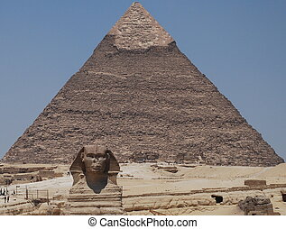 Sphinx and the Pyramid of Egypt