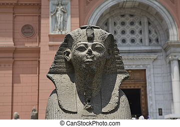 Sphinx at the Egyptian Museum, in Tahrir Sq, Cairo