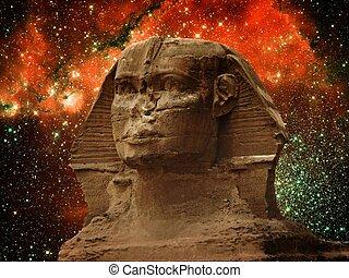 sphinx, dieser, (elements, bild, klein, magellanic, furnis, wolke