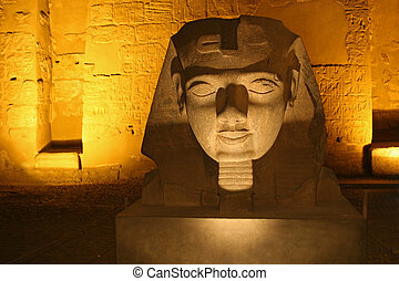 Sphinx in a temple - A Sphinx in the Luxor temple in Egpyt
