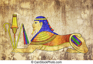 Sphinx - mythical creature of ancient Egypt - Image of the...
