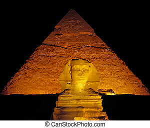 Sphinx Night in Egype on a hot summers night