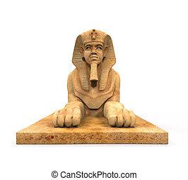 sphinx, statue, égyptien