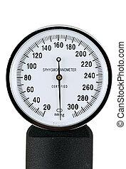 A sphygmomanometer for taking blood pressure