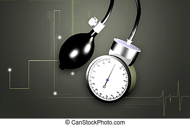 Sphygmomanometer - Digital illustration of sphygmomanometer ...