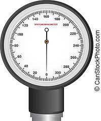 sphygmomanometer isolated over white background. vector ...