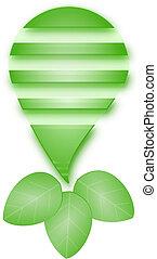spia verde, bulbo, vettore
