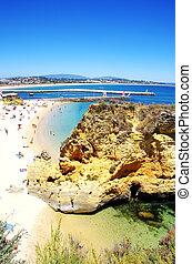 spiaggia, a, lagos, algarve, portogallo