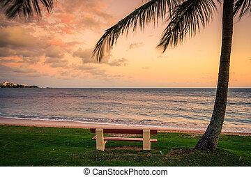 spiaggia, a, noumea, nuova caledonia