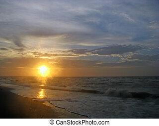 spiaggia, alba