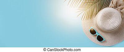 spiaggia, bandiera, accessori