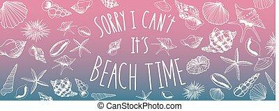 spiaggia, bandiera, tempo