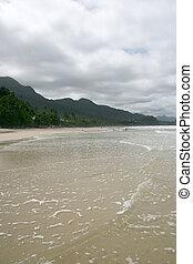 spiaggia bianca, sabbia, verticale