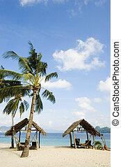 spiaggia, capanne