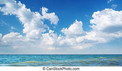 spiaggia, day., costa, composition., natura, bello