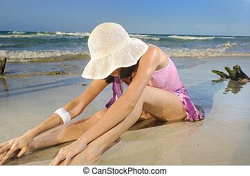 spiaggia, estate, moda
