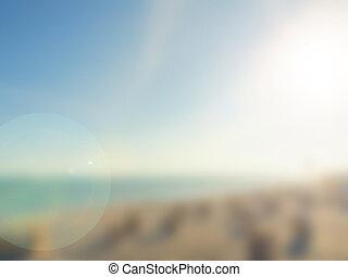 spiaggia, fondo, sfocato