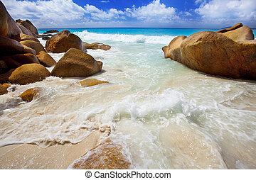spiaggia, georgette, -, sogno, anse