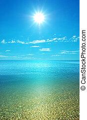 spiaggia, giorno, costa