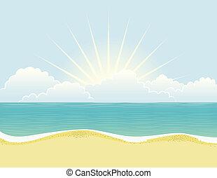spiaggia, giorno