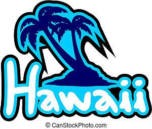 spiaggia, hawai
