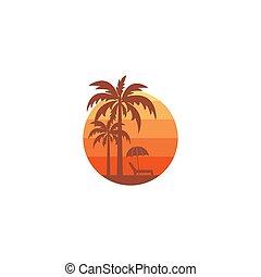 spiaggia, icona