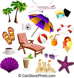 spiaggia, icone