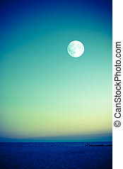 spiaggia, luna
