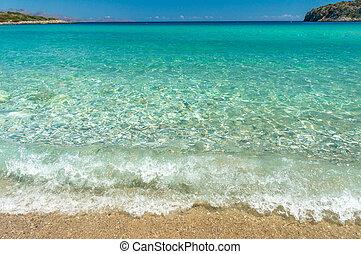 spiaggia, mare, onda