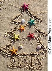 spiaggia, natale, anno nuovo
