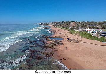 spiaggia, natale, tiffanys, kwazulu, africa, roccia, sale,...