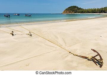 spiaggia, ngapali