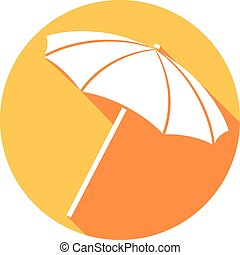 spiaggia, ombrello, illustrazione