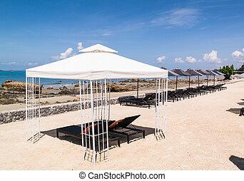 spiaggia, ombrello
